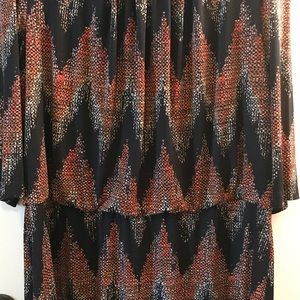 connected apparel Dresses - Connected Apparel Size 20W-Orange & Black Pattern